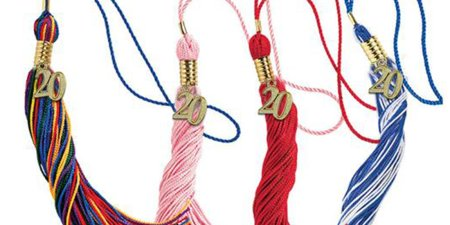 Class of 2020 tassels in various colors