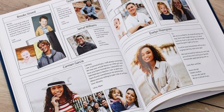 yearbook ad close up