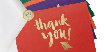 Multicolor Thank You Cards