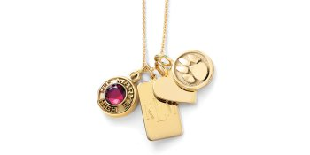 The Sarah Chloe gold plated styles feature a 14K yellow gold plating