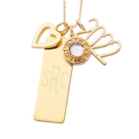 Layered Charm Necklace (C82)