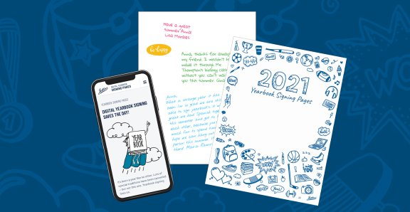 Digital yearbook signing