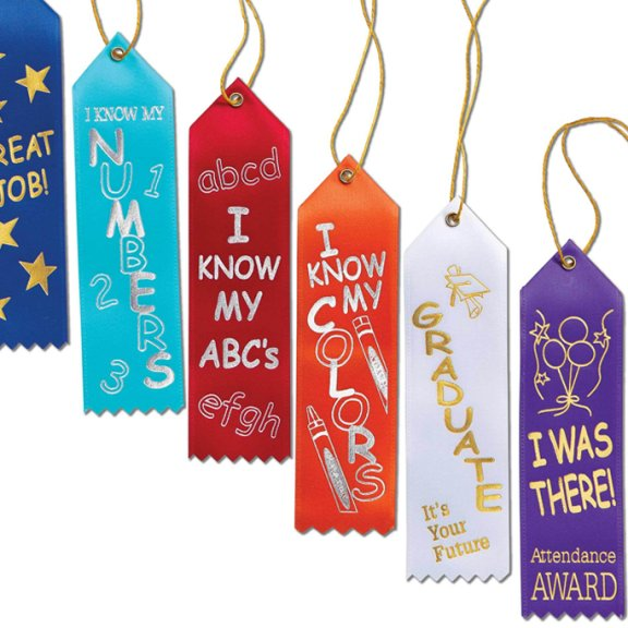 Accomplishment ribbons